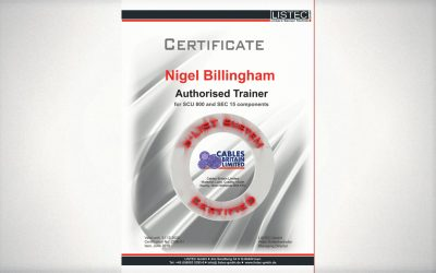Re-qualified Authorised Trainer for LISTEC Addressable heat Detection!